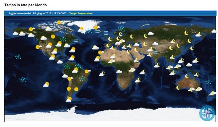 previsioni meteo nel mondo