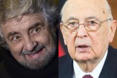 Grillo chiede un incontro con Napolitano